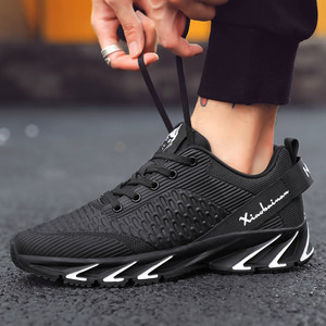 Image 4 - New Spring Autumn casual shoes men Big size39 44 sneaker trendy comfortable mesh fashion lace up Adult men shoes zapatos hombre