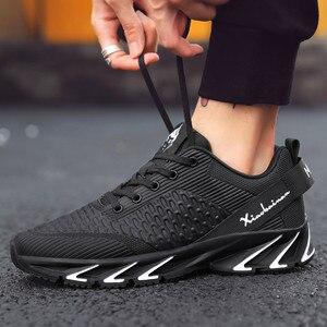 Image 4 - Nieuwe Lente Herfst Casual Schoenen Mannen Grote Size39 44 Sneaker Trendy Comfortabele Mesh Mode Lace Up Volwassen Mannen Schoenen Zapatos hombre
