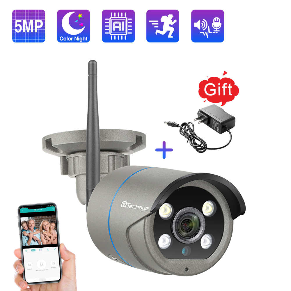 Techage Icsee 1080P 2MP 5MP Draadloze Camera Beveiliging Wifi Ip Camera Twee-weg Audio Ai Cctv Video Outdoor nachtzicht Tf Card P2P
