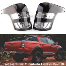 Smoke with Wire Left&Right Tail Light For Mitsubishi Triton L200 2015 2016 2017 2018 Rear Brake Tail Light Signal Lamp No Bulb