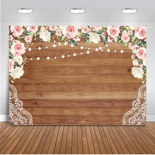 Bridal Shower wedding flowers wooden wall backdrop for photography newborn baby portrait photo background studio floral photo