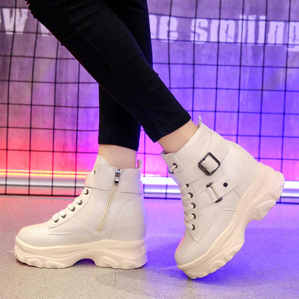 KARINLUNA ใหม่สุภาพสตรีสูงซ่อนรองเท้าส้นสูงผู้หญิงสายคล้องคอรองเท้าอินเทรนด์รองเท้าแพลตฟอร์มรองเท้าผู้หญิง
