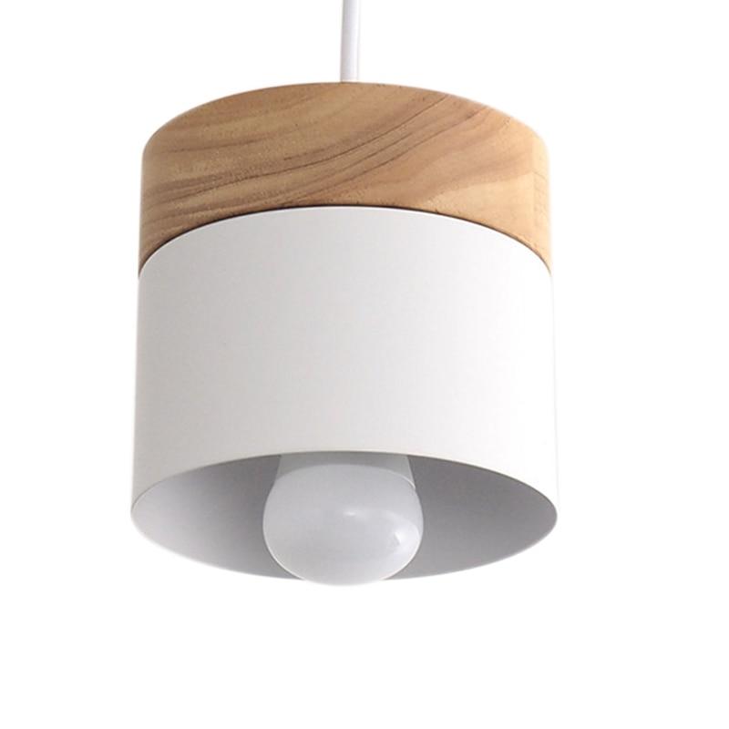 ABUI-Led Chandelier Lighting Modern Restaurant Cafe Bar Nordic Interior Simple Wooden Chandelier White Oak + Aluminum