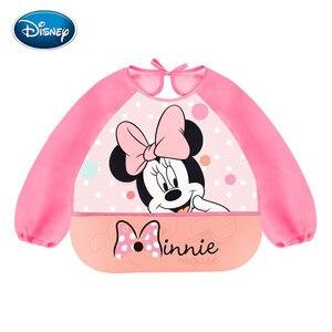 Disney милые детские нагрудники водонепроницаемый, с длинными рукавами Микки Минни мультфильм нагрудник для кормления с карманом Детский фар...