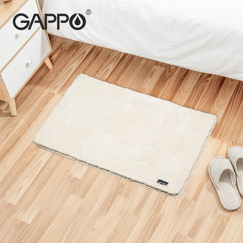 GAPPO Non Slip Bath Mat 60*90CM Super Absorbent Bathroom Rugs Bathtub Floor Mat Doormat For Shower Room Toilet Bathroom Mat(China)