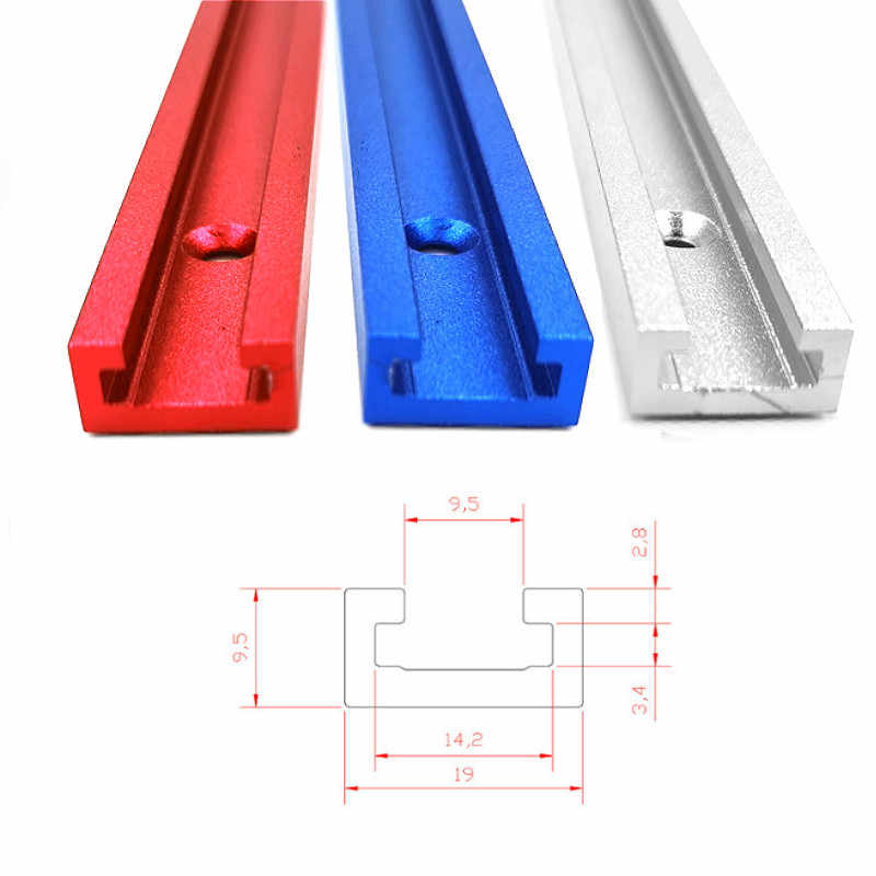 Takefuns Woodworking Tools T-Slot T Track Clamp Miter Track Jig Fixture Slot DIY 300-1220mm Miter Woodworking Tool T-Track Miter-1000mm