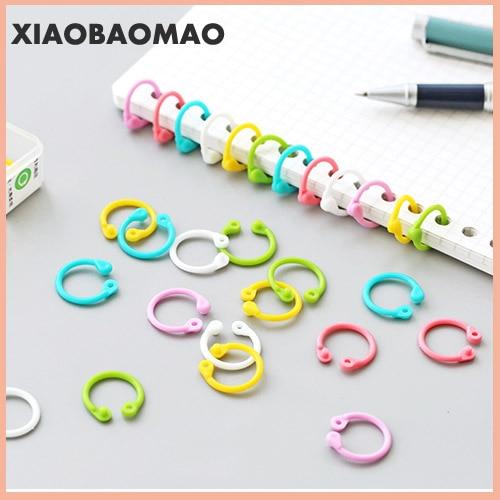 Colorful Plastic Circle Ring Multi-Function Creative Loose-Leaf Binder Ring For DIY Album Book Binder Hoops Office Binding Rings