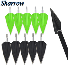 12pcs/lot  Broadhead Hunting Arrow head Recurve Compound Bow Crossbow Slingshot Stainless Steel Arrowheads arrow shaft Universal