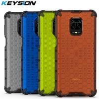 KEYSION caso A prueba de golpes para Redmi Nota 9 Pro Max 9S 8 Pro 8 7 K20 de nido de abeja de la cubierta del teléfono para Xiaomi Mi 9 Lite 9T A3 POCO F2 Pro