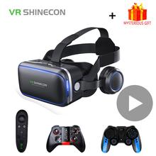 Shinecon 6 0 Casque VR okulary do VR 3D gogle zestaw słuchawkowy kask do smartfona Smart Phone Viar lornetka gra wideo tanie tanio Shinecon 6 0 headphone Brak Smartphones CN (pochodzenie) Binocular Wciągające Virtual Reality NONE Kontrolery Zestawy