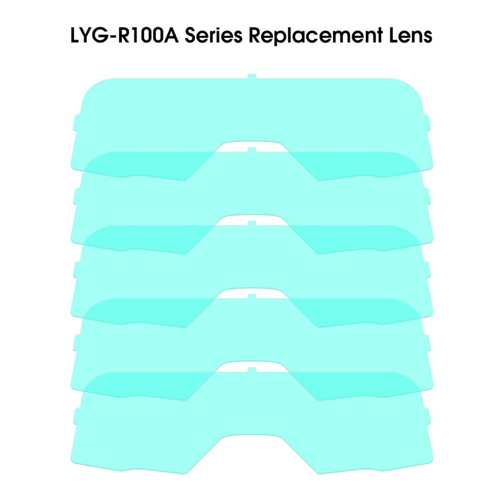 YESWELDER 5PCS Outer Alternate Replaceable Protection Lens For LYG-R100A Series Welding Goggles
