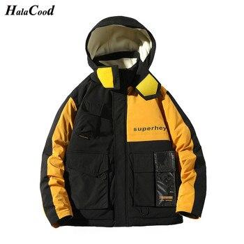 HALACOOD Brand Hot Sell New Fashion Plus Size XL Male Coat Men's Winter Down Jacket Windproof Warm Coat Men Hooded Down Coat Men