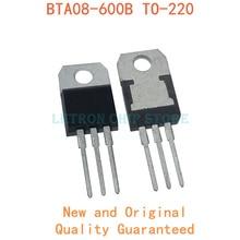 10PCS BTA08-600B BTA08-600C TO-220 BTA08-600 TO220 BTA08 600B 600C new and original IC Chipset