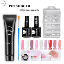 ZWTale 15ml Poly Gel Set Finger Extension Crystal Jelly Nail UV LED Hard Acrylic Builder Art