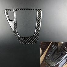 For BMW 3 Series E90 E92 E93 2005-2012 Carbon Fiber Gear Shift Box Panel Cover Sticker Car Styling Shift Control Stickers New цены