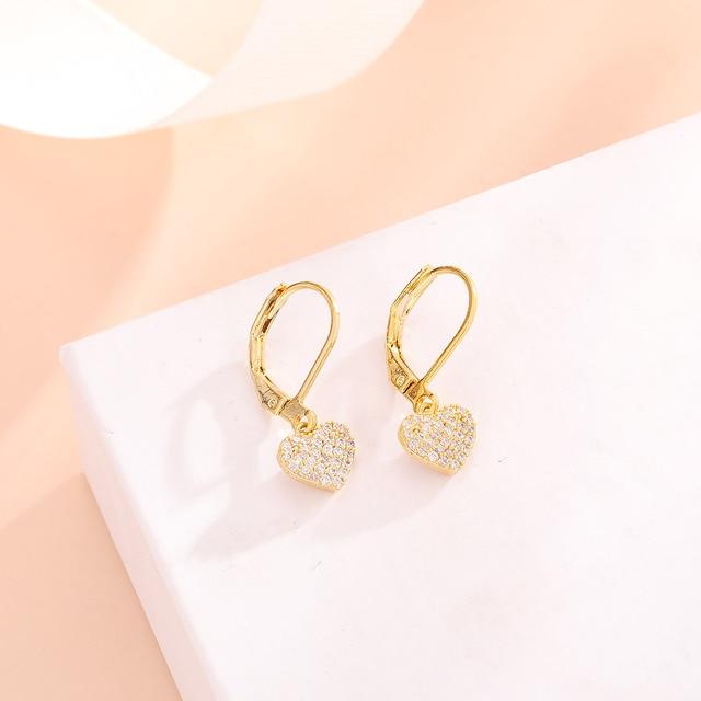 Women Drop Earrings Full Cubic Zirconia Delicate Girls Party Dangle Earrings Shiny Fashion Jewelry 2