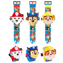 Paw patrol toys set Projection Watch Toys Anime Action Figure Model Boy Girl Toy Childrens Christmas Birthday Gift