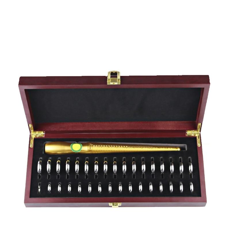 High quality Finger Sizes Gauge & HK Standard Ring Stick Set In Wooden Box