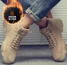 New mens boots high-top leather casual solid color fashion wear-resistant non-slip high-end breathable