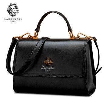 Laorentou Women Shoulder Bag Female Casual Crossbody Bag Lady Handbags Valentine's Day Gift Women Retro Fashion Shoulder Handbag