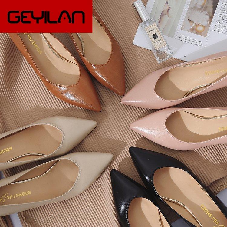 Туфли женские на шпильках 6 см, лакированная кожа, заостренный носок, высокий каблук, пикантные, Профессиональная удобная рабочая обувь, чер...