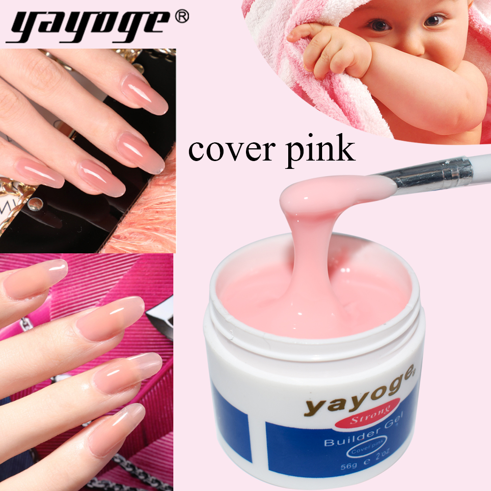 YAYOGE Builder Gel For Nail Extensions Thick Hard Jelly Builder Acrylic Poly Extension Gel Cover Pink Camouflage Color Nail Art