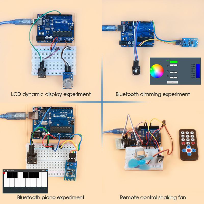 Keywish RFID Starter Diy Kit For Arduino UNO R3 With Bluetooth Module, 34 Lesson , Solder-Free,