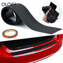 90cm Rear Bumper Guard Trunk Edge Sill Black Rubber Protector Cover For Car SUV car styling door protector