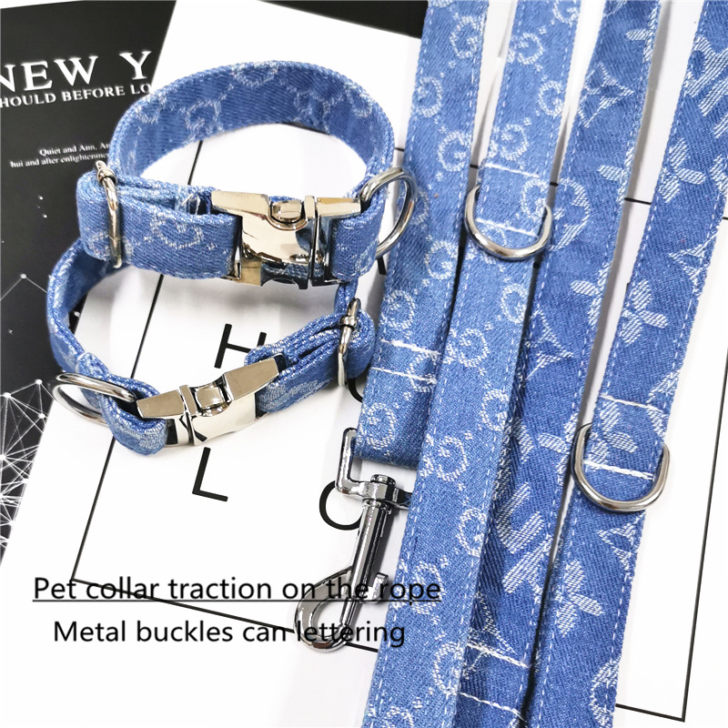 New Products Pet Collar Strong Cowboy Dog Haulage Rope Package Pet Supplies