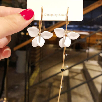 Trendy Flower Women Dangle Earrings Golden Big Circle Three Color Spray Paint Asymmetrical Earrings For Women.jpg 350x350 - Trendy Flower Women Dangle Earrings Golden Big Circle Three Color Spray Paint Asymmetrical Earrings For Women Drops Earrings