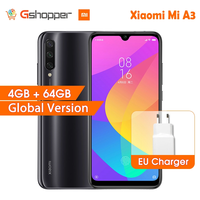 En Stock versión Global Xiaomi mi A3 mi A3 4GB 64GB 32MP + 48MP cámara del teléfono móvil 4030mAh Snapdragon 665 Octa Core 6.088 AMOLED