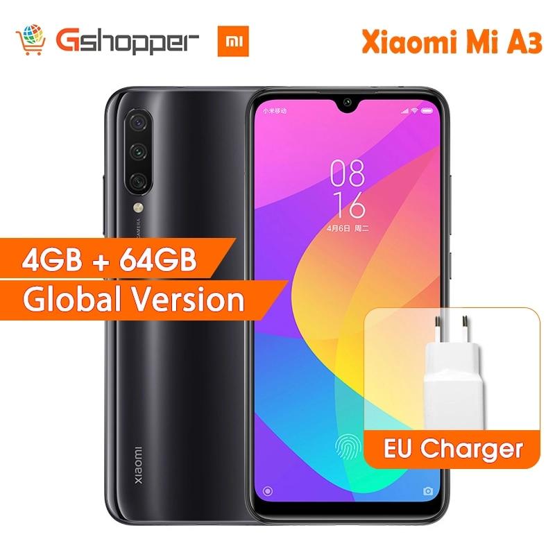 Version mondiale Xiao mi A3 mi A3 4GB 64GB 32MP + 48MP caméra 4030mAh téléphone portable Snapdragon 665 Octa Core 6.088 AMOLED