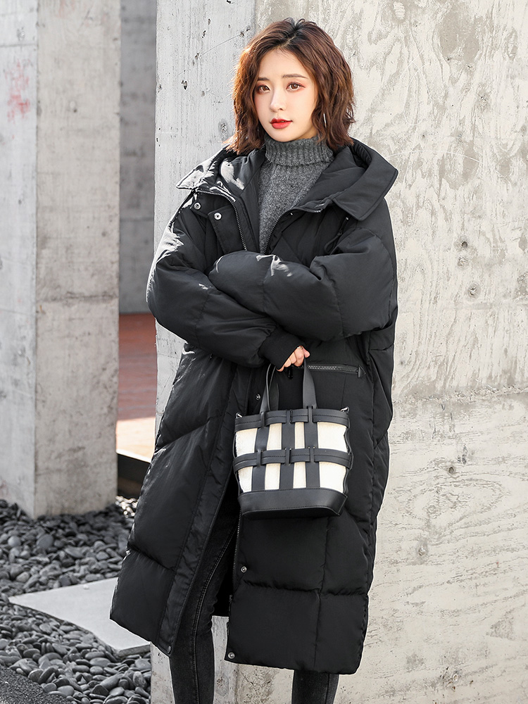 2019 new winter   down   jacket whom long profile hooded   down     coat   loose thickening