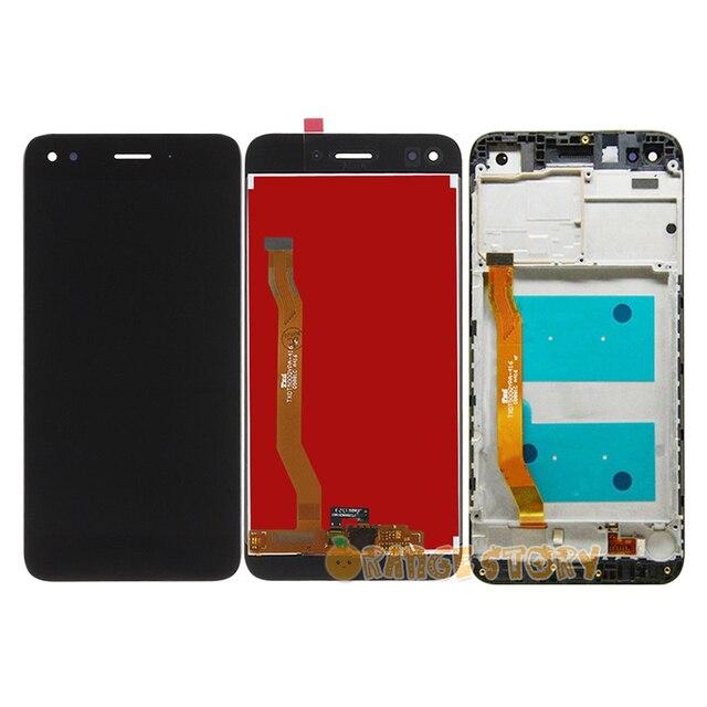 """100% Test sensörü LCD ekran için Huawei Nova lite 2017 SLA L22 5 """"LCD dokunmatik ekranlı sayısallaştırıcı grup çerçeve değiştirme"""