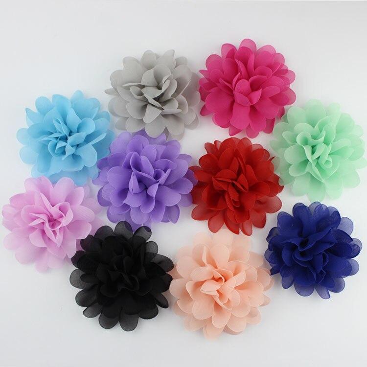 DIY Baby Girl Hair Accessory Chiffon Flower Child Head Flower No Clip 1PCS 1801ZYAA1719