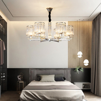 Multiple Rod metal chandelier Vintage Iron Ceiling Lamp E27 Bulb Lamparas for Home Lighting Fixture Nordic Kitchen