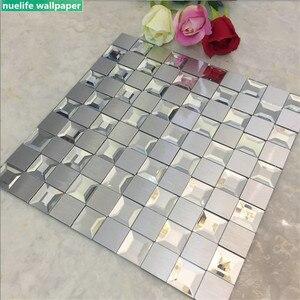 Espejo biselado de mosaico compuesto de aluminio cinco lados Borde de vidrio azulejo sala de estar dormitorio baño autoadhesivo pegatinas de pared