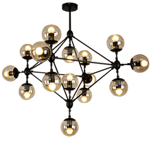 3/5/10/15/21 Heads Magic Bean Iron Pendant Light Modern Vintage Glass Ball Lights American Nordic Dinning Room Hanging Lamps magic beans dna lustres wrought iron industrial cafe project 5 lamps nordic art deco glass ball led pendant hanging lights