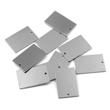 10pcs Stainless Steel Flat Rectangle Tag Bar Stamping Blank Charms For DIY Craft Jewelry Findings Accessories 20pcs set blank stainless steel flower shoes clips on findings silver color diy craft buckles 2017 worldwide sale free shipping
