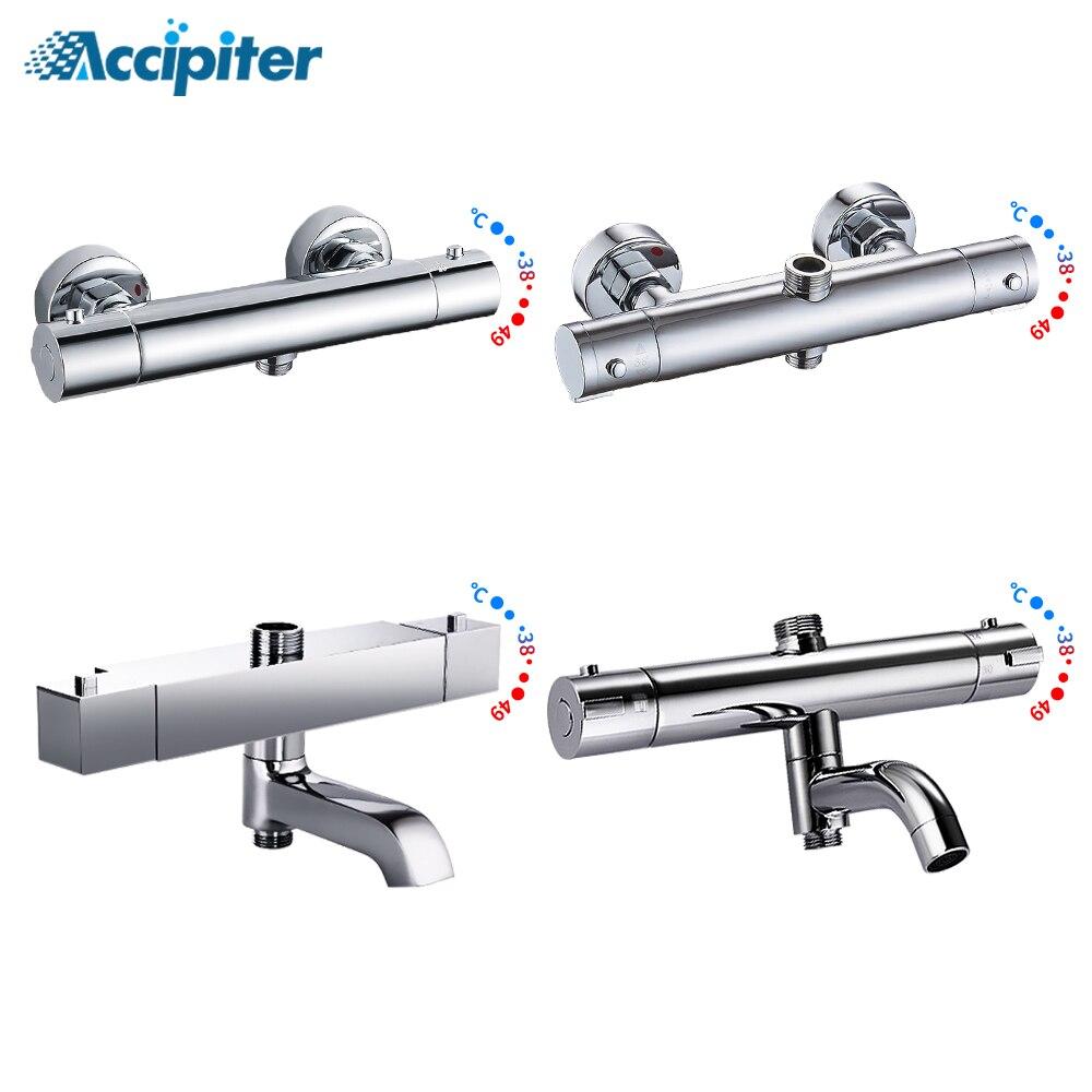 Bathroom Shower Mixer Brass Thermostatic Shower Faucet Bath&Shower Suite Accessories Water Mixer