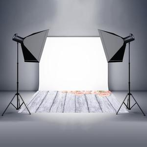 Image 2 - Photo Studio Wood Floor Printing Backdrops Romantic Floral Photography Studio Video Art Cloth Background for Camera Photo