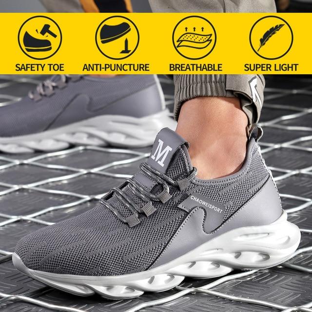 Men Work Safety Shoes Steel Toe Cap