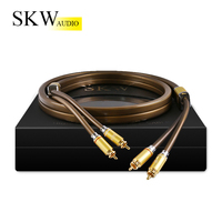 SKW Audio Cable 2RCA To 2RCA 6N OCC coaxial 1M,1.5M,2M,3M,5M for Home Theater Amplifier DVD TV CD Soundbox