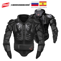 HEROBIKER Motorcycle Armor Protection Protective Gear Body Protector Jacket Motocross Motorbike Moto Jackets With Neck Protector