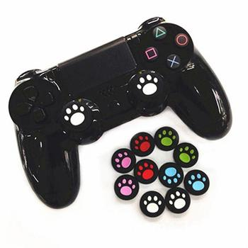 2Pcs Cat Paw Rubber Silicone Game Handle Joystick Thumb Stick Grip Cap For PS4/Xbox One/PS3/Xbox 360 Controllers image