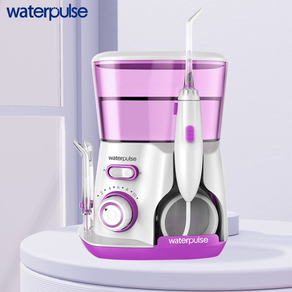 Waterpulse V300R Water Flosser With 5 Tips Electric Oral Irrigator Dental Flosser 800ml Capacity Oral Hygiene For Family Care 3