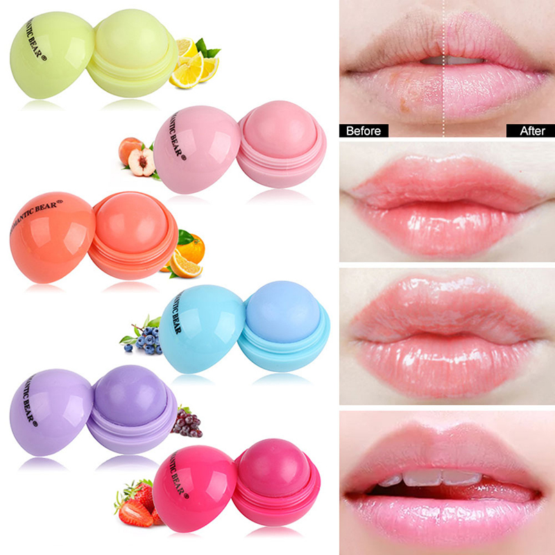 New 6 Color Moisturizer Ball Lip Balm Lipgloss Enhancer Natural Plant Organic Sphere Pomade Ball Lipbalm Embellish Lip Color Lip