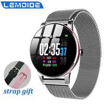 LEMDIOE kadın erkek akıllı saat su geçirmez ip67 nabız monitörü çoklu spor modu değiştirilebilir kayış sevgili saati akıllı