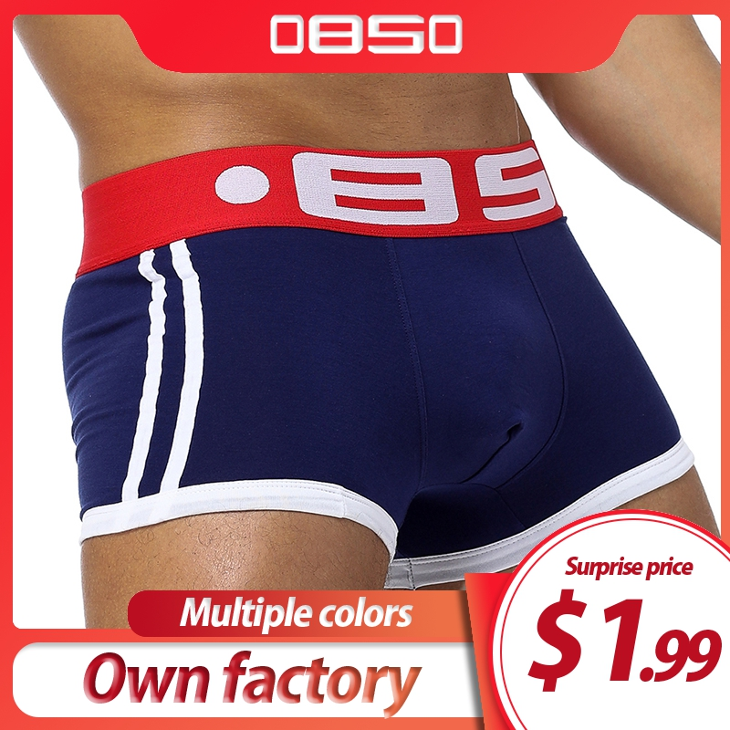 Brand Men Underwear Boxer Sexy Cotton Cuecas Boxers Mens Boxer Shorts Gay Underwear Man Male Boy Underpants Slip B0040