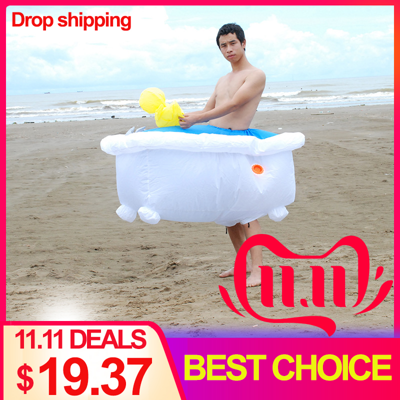 Bathtub Inflatable Costume Cosplay Halloween For Woman Adult  Party Festival Stage Performance Funny Costumes